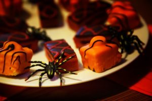 Halloween chocolates and goodies.